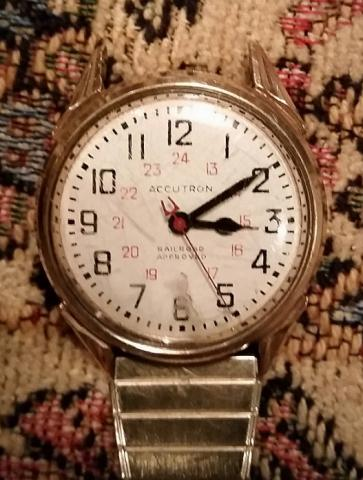 1970 Accutron RR Approved Bulova watch front