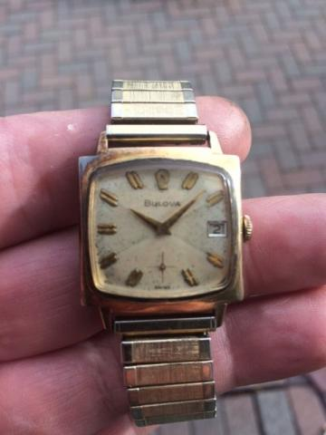 1964 Bulova Date King watch