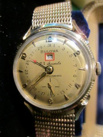 1957 Bulova 23 Calendar watch