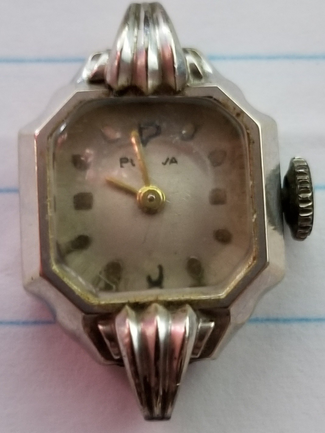 Front of Ladies 1947 Bulova watch