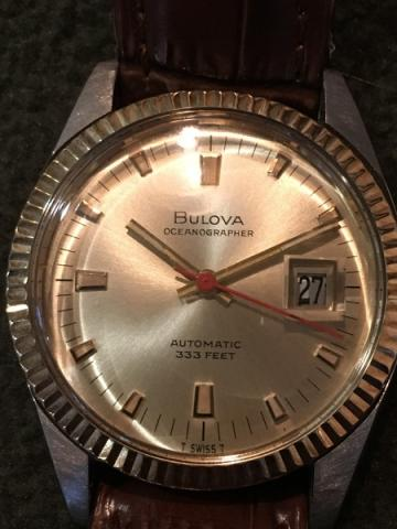 1969 Bulova Oceanographer watch